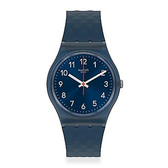 Swatch Gn271 Bluenel Blue Silicone Watch