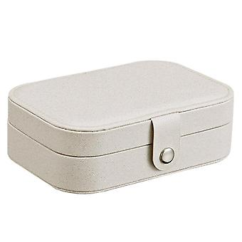 Multi Function Portable Leather Jewelry Storage Box For Earrings Ring And