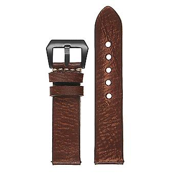Strapsco vintage washed leather quick release strap w/ black buckle