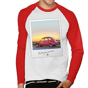 Citro�n 2CV Wish You Were Here Photo For Light Men's Baseball Long Sleeved T-Shirt