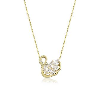 Swan Gold Necklace