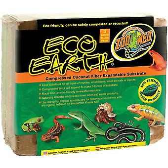 Zoo Med Substrato  Eco Earth Pack 3 Ladrillos (Reptiles , Beds and Hammocks)