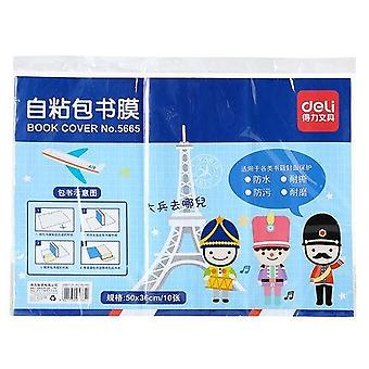 1 Pack 10 Sheets Matte Transparent Book Wrapping Film