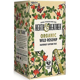 Heath & Heather Organic Wild Rosehip Tea 30g (20s) x6