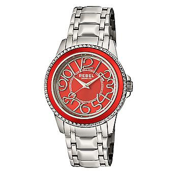 Rebel Unisex Williamsburg Red  Dial Stainless Steel Watch