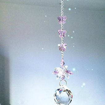 Garland Chakra Spectra 1pcs Pink Crystal Glass Suncatcher