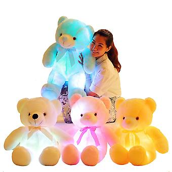 Creative Light Up Led Colorful Glowing Teddy Bear Stuffed Animal Plush Toy