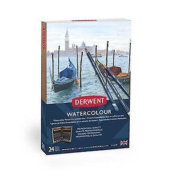 Derwent Watercolour Pencils 24 Wooden Box Set