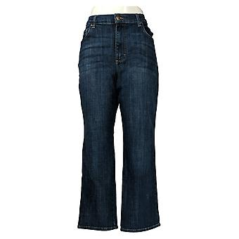 Lee Women's Jeans Short Relaxed Fit Straight-Leg Bewitched Blue