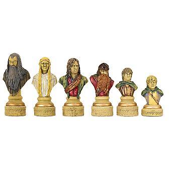 سيد الخواتم قطع الشطرنج 4.5 بوصة مرسومة اليد طبعة المحدودة