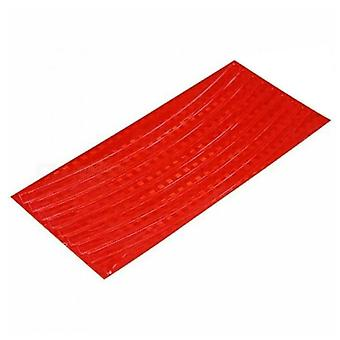 Red Plastic 21x0.8cm Fluorescent Bike Bicycle Cycling Motorcycle Wheel Tire