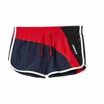 Adidas Archive Legend Ink Red Black Polyamide Womens Shorts AJ7202 A1E