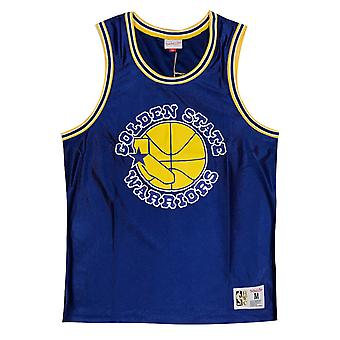 Mitchell & Ness Golden State Warriors Vintage Dazzle Tank NBA Vest MSTKDF18015 G