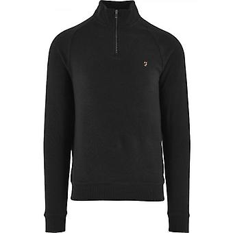 Farah Black Jim Quarter-Zip Sweatshirt