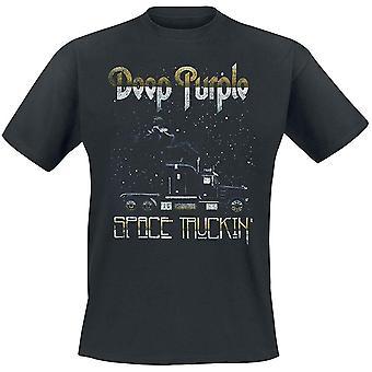 Deep Purple Unisex Adults Space Truckin Design T-Shirt