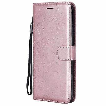 Einfache solide Mode Candy Farbe Leder Flip Brieftasche Fall für Huawei
