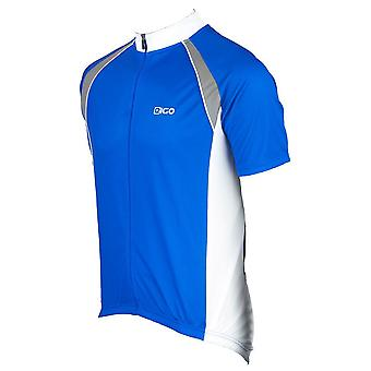 Eigo Logic Mens Short Sleeve Cycling Jersey Blue / White