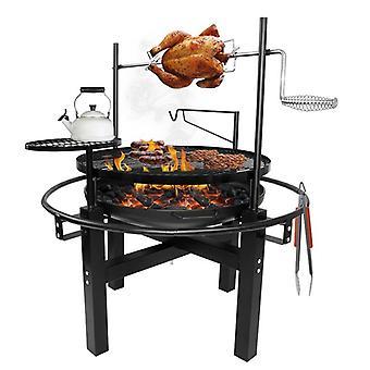 Multi Barbeque - BBQ 5-in-1 - Grill - Spit - Feuerstelle - Pfannen Platte