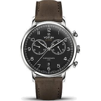 VOTUM - Reloj Unisex - CRONÓGRAFO VINTAGE - VINTAGE - V10.10.20.03 - correa de cuero - marrón oscuro
