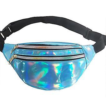 Holographic Waist Fanny Pack Belt Bag & Geometric Laser, Chest Phone, Pouch Bag