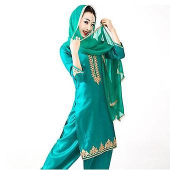 Puuvillatakki Punjabi Dupattas Perinteiset Naisten PuseroHousut Setit