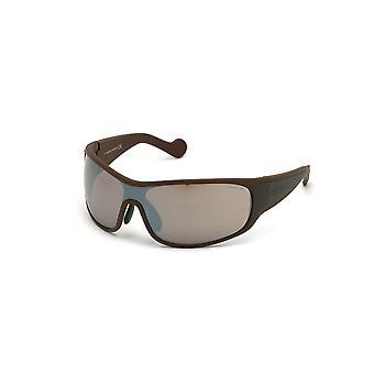 Moncler ML 0129 50L gafas de sol de espejo de color marrón oscuro/espejo Roviex
