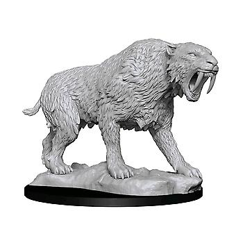 WizKids Deep Cuts Unpainted Miniatures: Saber-Toothed Tiger