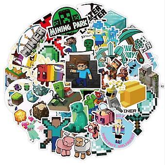 Minecrafted Cartoon Muster, wasserdichte Vinyl Pvc Aufkleber