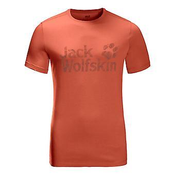 Jack Wolfskin Brand Logo Tee - Saffron Orange