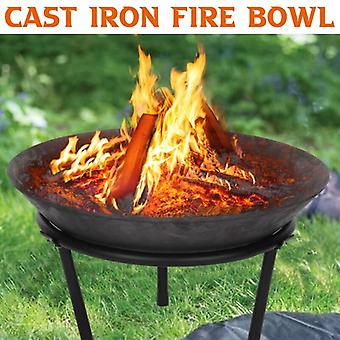 Steel Large Fire Bowl Cast Iron Modern Garden Outdoor Stylish Fire Pit