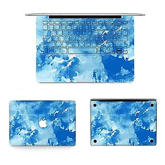 Texture Laptop Body Decal Protective Skin Vinyl Blue Sticker