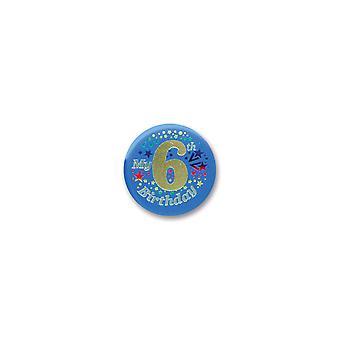Mein 6. Geburtstag Satin Button (Pack von 6)