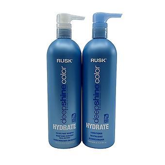 Rusk Deep Shine Color Hydrate Shampoo & Conditioner Set 25 OZ