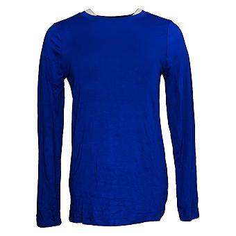 Zenana Premium Women's Long Sleeve Round Neck Top Blue