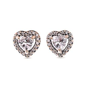 PANDORA Elevated Heart Stud Earrings - 298427C01