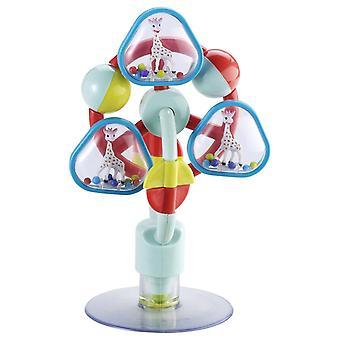 HanFei 230781 Tischspielzeug mit Saugnapf Sophie la girafe, mehrfarbig