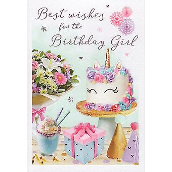 ICG Ltd Open Birthday Card Essence Range - Cake