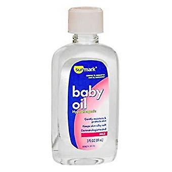 Sunmark baby oil, 3 oz
