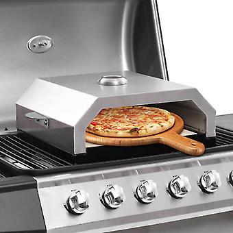 vidaXL horno de pizza con piedra cerámica para parrilla de carbón de gas