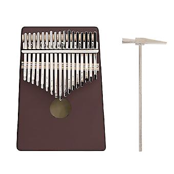 17 Keys c-tune thumb piano kalimba portable solid wood finger