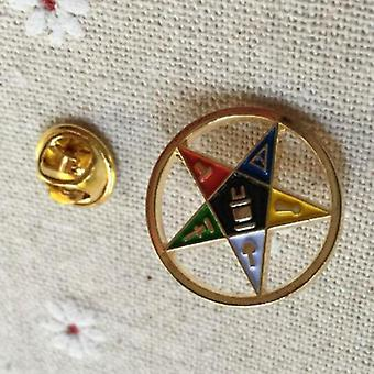 Order of the eastern star cut out lapel pin