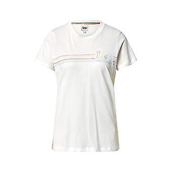 Lee Pride Tee T-Shirt, Vit duk, S Kvinna