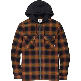 Element Wentworth Shadow Long Sleeve Shirt in Gold Brown
