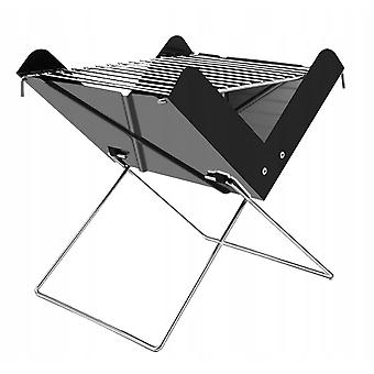 Hsla Outdoor Charcoal Stove X Type Small Portable Folding Barbecue Rack For Bbq