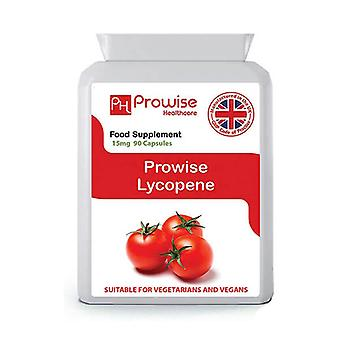 Lycopene 15mg 90 Capsules| Suitable For Vegetarians & Vegans | Made In UK by Prowise