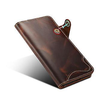Originele lederen Portemonnee kaart slot case voor Samsung S10 5g bruin