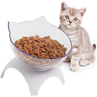 Katzen Futternapf,Futternapf Katze, Doppelte Katzennäpfe mit erhöhtem Ständer, 15 ° geneigte