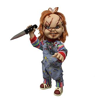 Scarred Chucky Mezco Designer Series (Mega Scale) 15 inch with Sound Poseable Figure from Child's Play