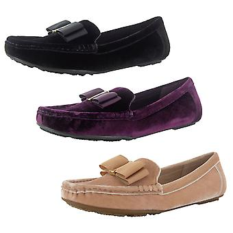 Isaac Mizrahi Live Womens Allena Velvet Moccasin Shoes