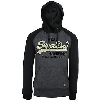 Superdry men's black grit duo raglan hood